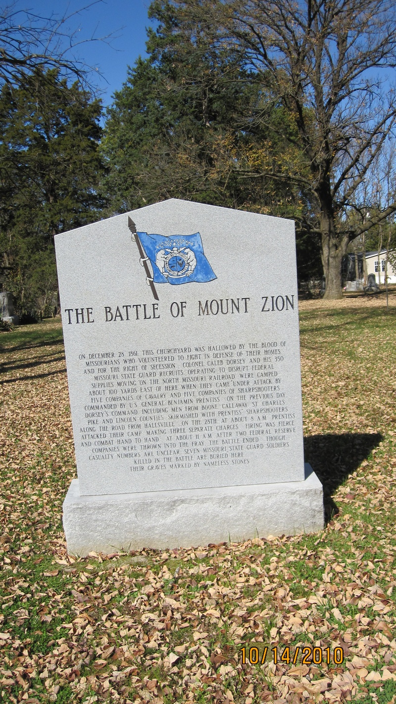 Battle of Mt Zion Stone